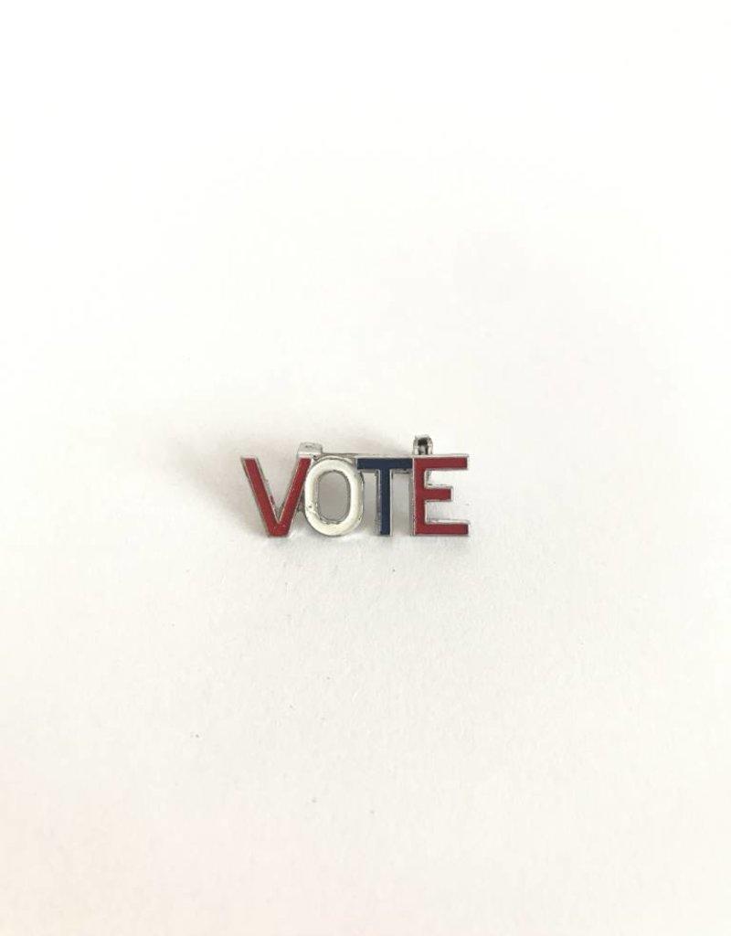 WOLF E MYROW Vintage Vote Pin Silver