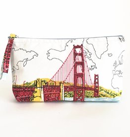 Chronicle Books SAN FRANCISCO GOLDEN GATE HANDMADE POUCH