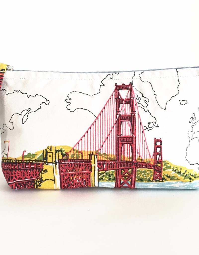 Chronicle Books SAN FRANCISCO GOLDEN GATE HANDMADE POUCH