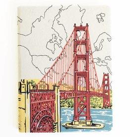 Chronicle Books SAN FRANCISCO GOLDEN GATE HANDMADE JOURNAL