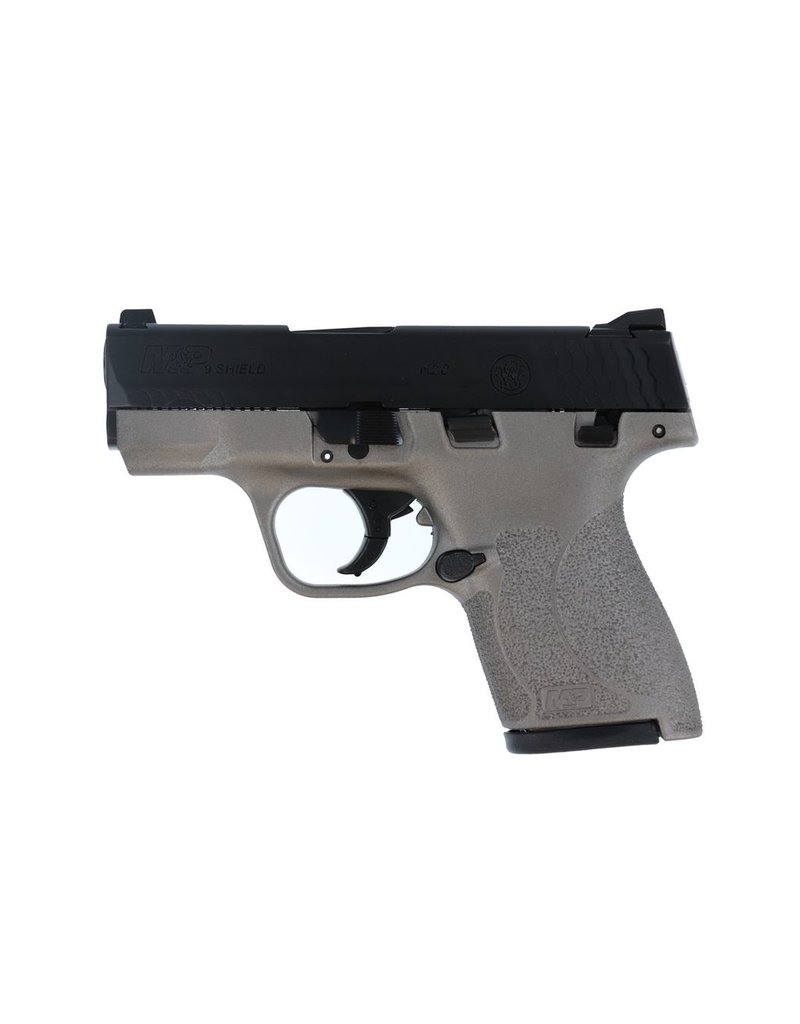 """S&W S&W M&P9 Shield M2.0 3.1"""" 9mm FS Black/Stainless 7&8rd w/ Thumb Safety (12398)"""