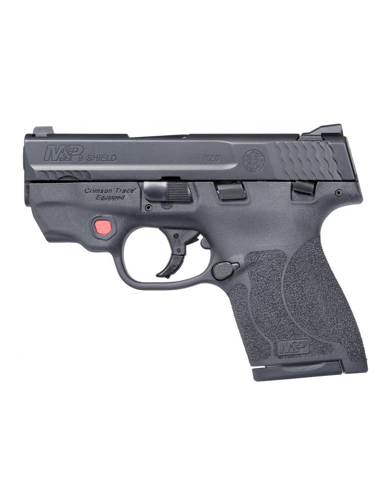 "S&W S&W M&P9 Shield M2.0 3.1"" 9mm FS Black 7&8rd w/ Integrated Crimson Trace Red Laser & Thumb Safety (11671)"