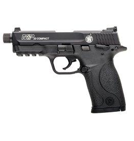 "S&W S&W M&P22 Compact 3.56"" 22lr AS Black 10rd Ambi Safety w/ Thread Adapter"