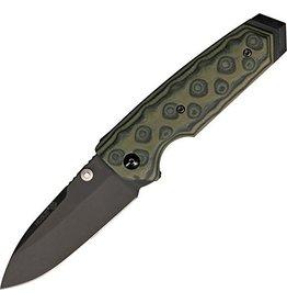 "Hogue Hogue EX-02 3.75"" Folder Spear Point Blade Flipper Black Finish G10"