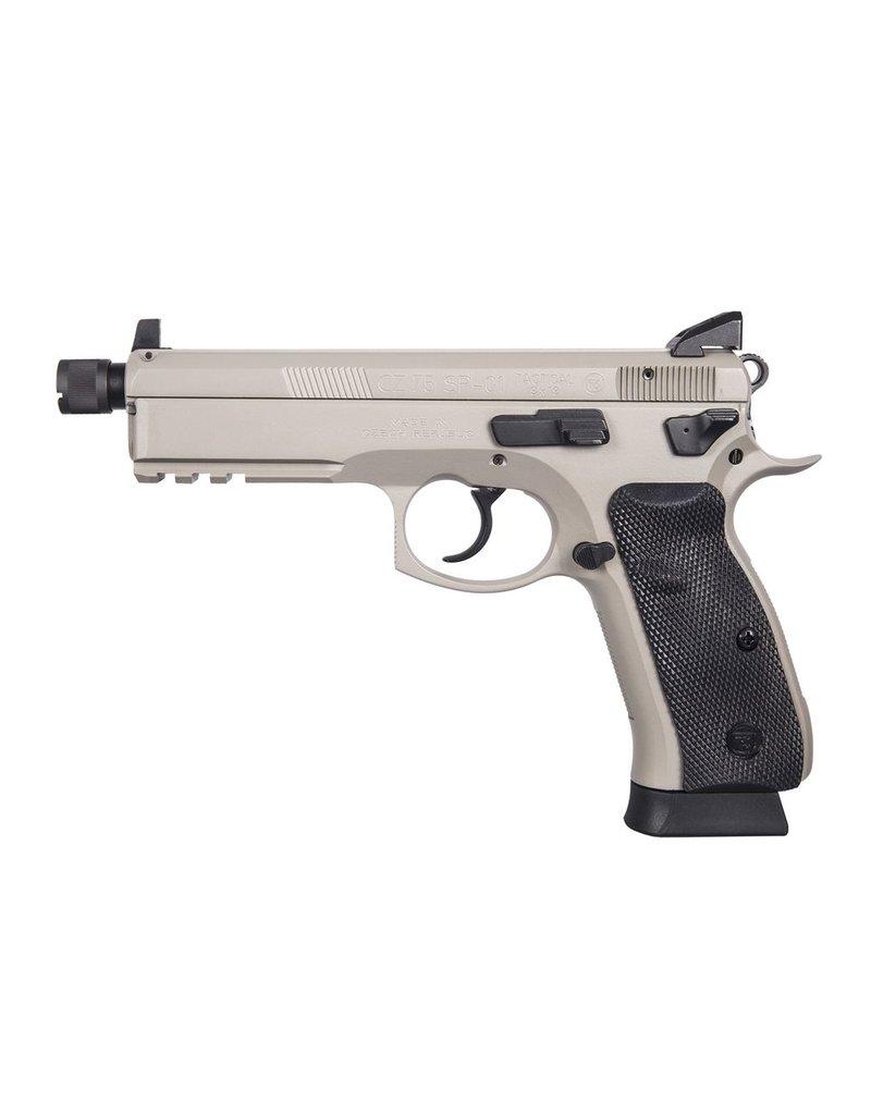 "CZ CZ 75 SP-01 Tactical Suppressor Ready 5.2"" 9mm NS Urban Grey 18rd (91253)"