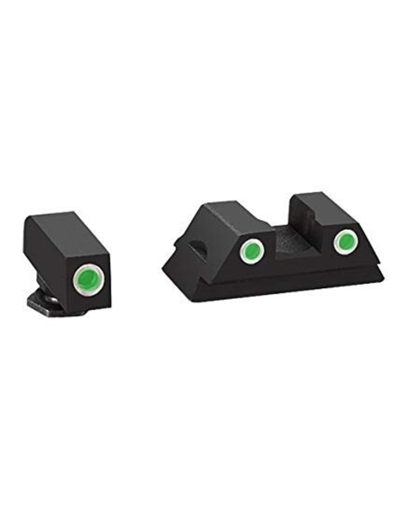 AmeriGlo AmeriGlo Classic Night Sights for Glock 42 (White Outline Front And Rear Sight) (GL-380)