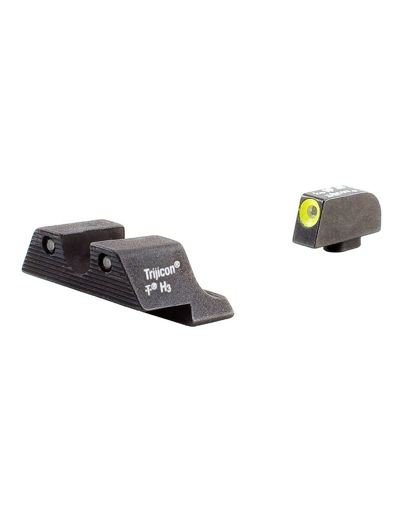 trijicon hd night sights yellow front outline for glock 17 19 26