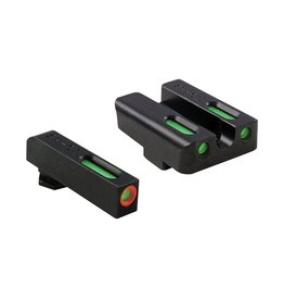 TruGlo TruGlo TFX Pro Green,Orange/Green Fiber Optic Night Sights for Glock Small Frame