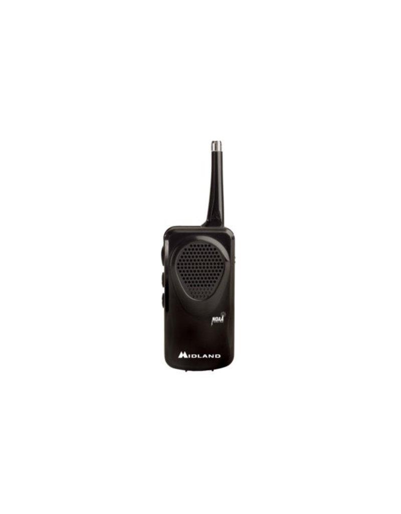 Midland Radio Corp Midland Pocket Weather alert Radio (Radio, Belt Clip, Wrist Strap, Owner's Manual & 3 AAA Batteries) (HH50B)