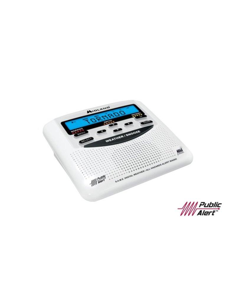 Midland Radio Corp Midland NOAA Weather Alert Radio (Weather Radio, AC Power Adapter, & Owner's Manual) (WR120B)