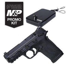 "S&W S&W M&P 380 Shield EZ 3.675"" 380acp AS Black 8rd w/ Manual Thumb Safety & Lockdown Keyed Large Handgun Vault (1082263)(Special Run)"