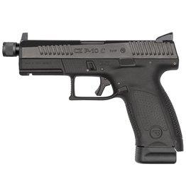 "CZ CZ P-10 C 4.6"" 9mm NS Black 17rd w/ Threaded Barrel (1/2x28)"