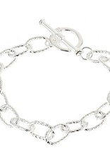 Fornash, Inc Bracelet Chunky Silvertone Chain Toggle