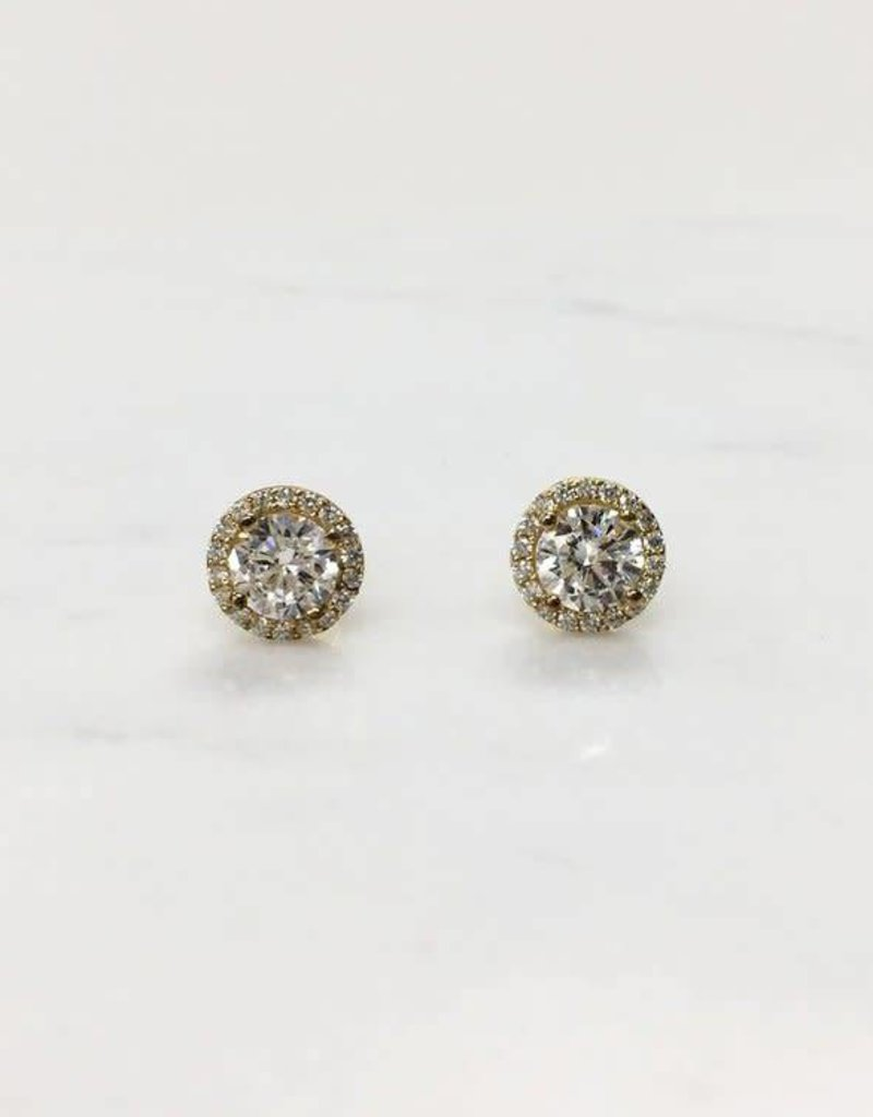 Markang Packaging and Imports EAR Stud in Pave Circle