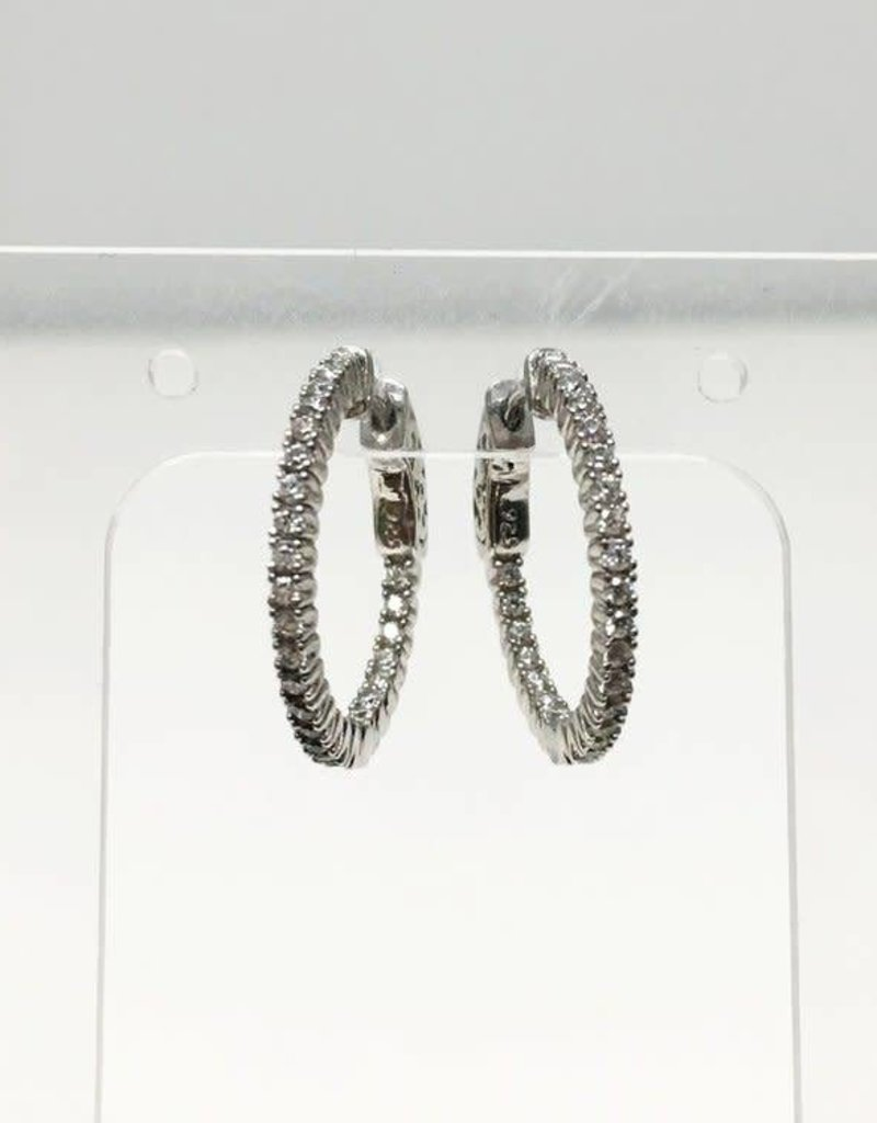 Markang Packaging and Imports EAR Pave Hoops 2cm