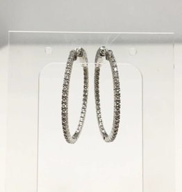 Markang Packaging and Imports EAR Pave Hoops 4.5cm