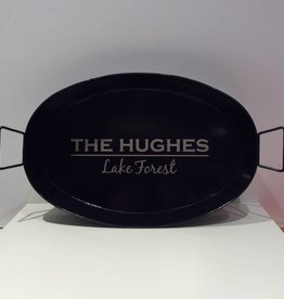 """Hughes Style"" Oval Metal Tray"