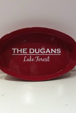 """""""Hughes Style"""" Oval Metal Tray"""