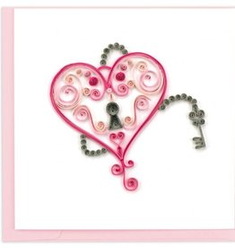 Key to My Heart Quilling Card