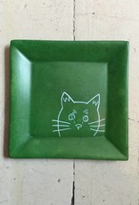 Peeking Cat Soapstone Dish