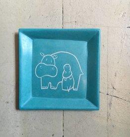 Hippo Soapstone Dish