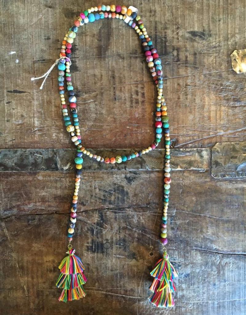 Kantha Lariat Necklace