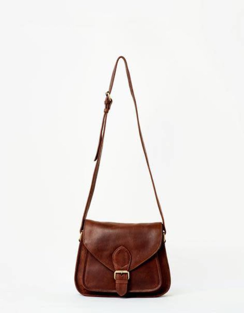 India, Myra Brown Leather Crossbody