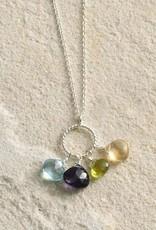 Semiprecious Stones Pendant Necklace