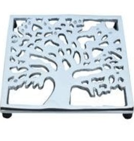 India, Silver Kalpa Tree Trivet