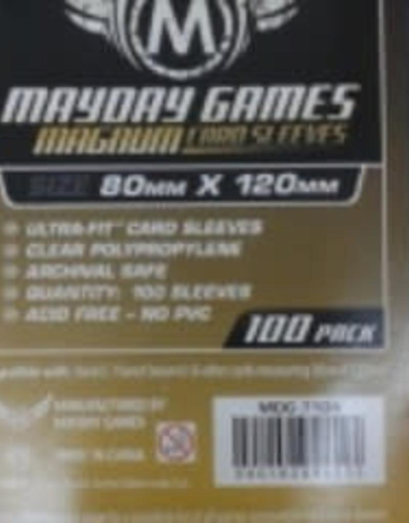 Mayday Games 7104N Sleeve «magnum gold» de couleur Noir 80mm X 120mm / 100