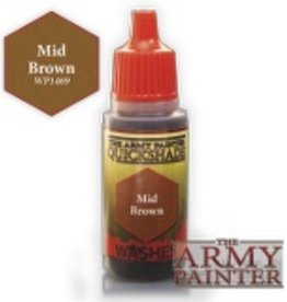 Army Painter Washes Warpaints - Mid Brown
