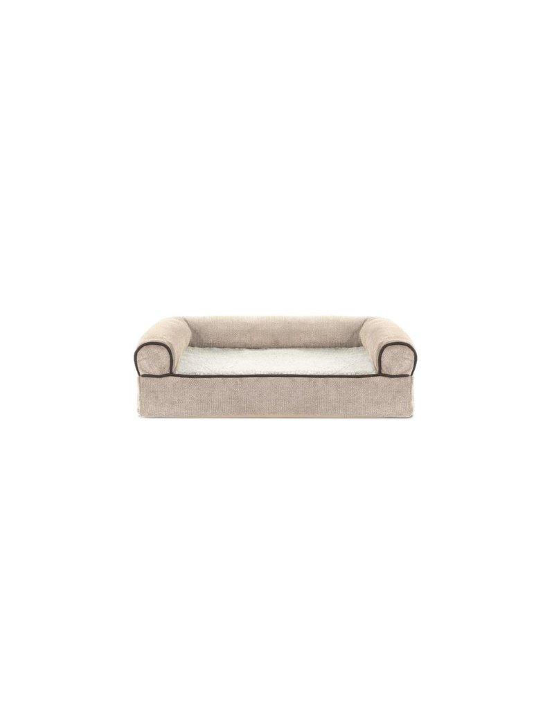 Furhaven Orthopedic Sofa Bed Med Faux Fleece Chenille
