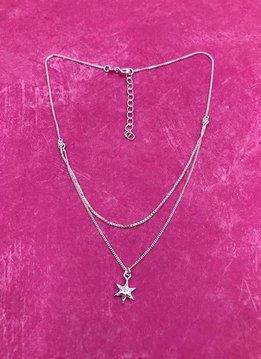 Italian Sterling Silver Simple Star Choker