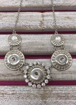 3 Snap Snap Necklace with Clear Jewels