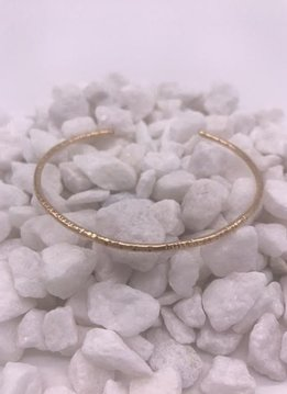 K. Jones 14K Gold Filled Hammered Bangle