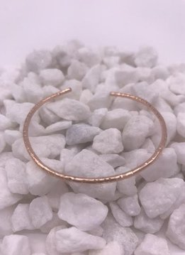 K. Jones Rose Gold Filled Hammered Bangle