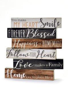 "Short Desk Block ""Love Makes a Family"