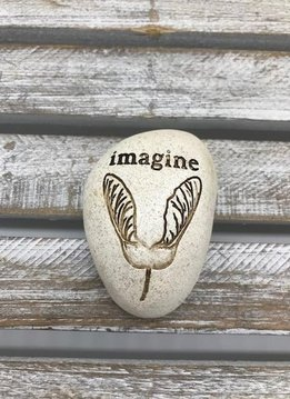 Small Inspirational Imagine Token with Maple Tree Seed