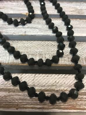 84in Long Forest Green Crystal Strand Necklace