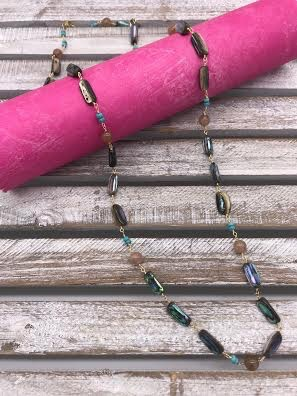 Abalone Beads w/Gold Necklace