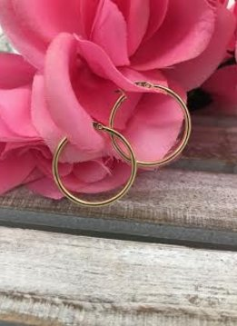 Sterling Silver Rose Gold Plated Hoop Earrings