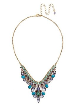 Sorrelli Gold Statement Necklace Jewel Tone