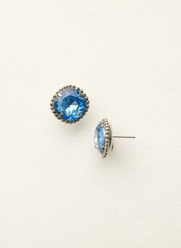 Sorrelli Silver Earrings Light Sapphire