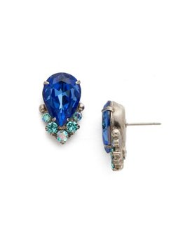 Sorrelli Silver Earrings Ultramarine