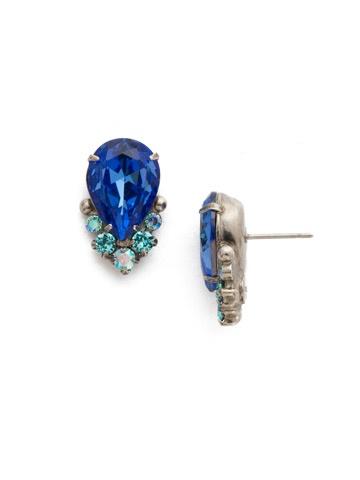 Sorrelli Silver Earrings Ultramarine
