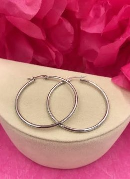 Stainless Steel Hoop Earring