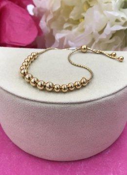 Sterling Gold Ball Adjustable Bracelet