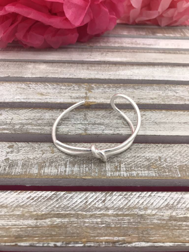 Silver Knot Cuff Bracelet