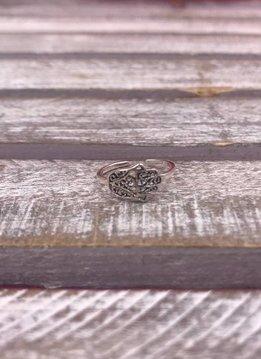 Sterling Silver Medium Hamsa Ring