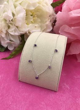 Sterling Silver Amethyst Confetti Necklace